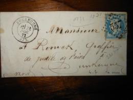 Lettre GC 557 Bourbourg Nord Avec Correspondance - 1849-1876: Période Classique