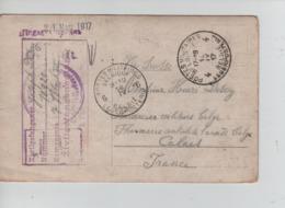 PR7410/ CP Photo Camp De Paderborn Censure 1917 > Via Suisse > Calais Pharmacie Centrale De L'Armée Belge - Guerra '14-'18