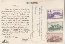 Carte IONYL Du FEZZAN - Afft Tricolore à 4F. (TTB) - Fezzan (1943-1951)