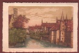 Dessin / Aquarelle - BRUGES - Quai Du Rosaire - Brugge