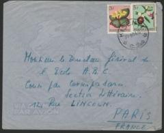 """RUANDA URUNDI """"KISENYI"""" Obl. Cachet à Date Sur N° 189 + 191. Sur Enveloppe Par Avion Pour La France. - Ruanda-Urundi"""