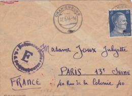 LETTRE  DE  CAMP  DE  PRISONNIERS  EN  ALLEMAGNE  (  ORANIENBURG  )  -  MAI  1944  . - Postmark Collection (Covers)