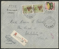 """RUANDA URUNDI """"USUMBURA G"""" Recommandé / Obl. Cachet à Date Sur N° 189 + 194(x2). Sur Enveloppe Par Avion Pour La France. - Belgian Congo"""