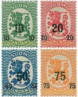 Ref. 314112 * HINGED * - FINLAND. 1919. COATS OF ARMS . ESCUDOS - Unused Stamps