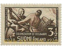 """Ref. 103473 * MNH * - FINLAND. 1938. 300 ANIVERSARIO DE LA """"NUEVA SUECIA"""" EN EL ESTADO DE DELWARE (EEUU) - Unused Stamps"""