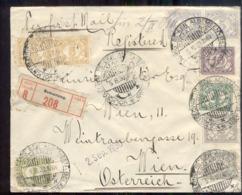 Nederlands Indië - 5.8.30 - Mengfrankering - Wenen Wien Oostenrijk - Semarnag - Vürtheim - Stempel Volkstelling - Zegel - Postwaardestukken