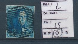 BELGIUM COB 2 USED - 1849 Epaulettes