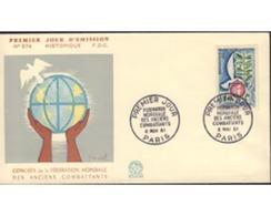 Ref. 396601 * MNH * - FRANCE. 1961. 10th ANNIVERSARY OF THE WORLD FEDERATION OF ARMY VETERANS . 10 ANIVERSARIO DE LA FED - Storia Postale