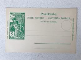 Blanco Postkarte - Carte Postale - Cartolina Postale 5 Cent 1900 UPU Weltpostverein Jubilee - Entiers Postaux