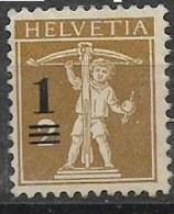 SVIZZERA 1915 FRANCOBOLLI DEL 1907-14 SOPRASTAMPATI UNIF. 145 MNH XF - Nuovi