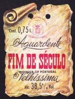 Brandy Label, Portugal - Aguardente FIM DE SÉCULO / Vila Nova De Gaia - Labels