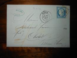 Lettre GC 506 Blois Loir Et Cher Avec Correspondance - 1849-1876: Klassieke Periode