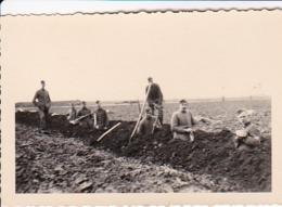 Foto Deutsche Soldaten Bei Erdarbeiten - Reichsarbeitsdienst Drainage Oberdrees Bei Rheinbach - Feb 1937 - 8*5cm (44029) - Krieg, Militär