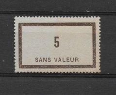 Fictif N° 44 De 1935 ** TTBE - Cote Y&T 2019 De 5 € - Phantomausgaben