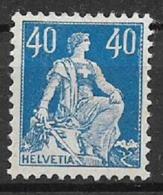 SVIZZERA 1916-22 SOPRASTAMPATI UNIF. 164 MNH XF - Nuovi