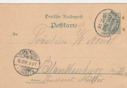 Allemagne Ambulant Berlin-Dirschau Sur Entier Postal 1901 - Briefe U. Dokumente
