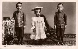 Japan, Children Of The Crown Prince (1910s) Rotary RPPC Postcard - Japan