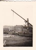Foto Ziehbrunnen Gänse Bauernhof - Ca. 1940 - 5,5*4cm (44034) - Orte