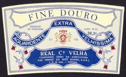 Brandy Label, Portugal - Aguardente FINE DOURO / Real Companhia Velha - Vila Nova De Gaia - Labels