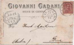 Pieve Di Cento (Ferrara): Giovanni Gadani. Viaggiata 1898 Poer Linz Annullo Esagonale - Ferrara