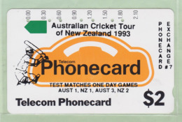 New Zealand - Private Overprint - 1992 Phonecard Exchange #7 $2 - VFU - PO-10A - New Zealand