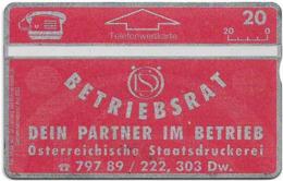 Austria - T.A.G. - Österreichische Staatsdruckerei - L&G - ANK-P100 - 210L - 10.1992, 20öS, 3.000ex, Used - Austria