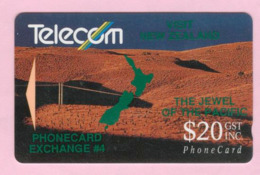 New Zealand - Private Overprint - 1992 Phonecard Exchange #4 $20 - VFU - NZ-PO-08 - New Zealand