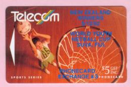New Zealand - Private Overprint - 1992 Phonecard Exchange #3 $5 - VFU - NZ-PO-07 - New Zealand