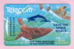 New Zealand - Private Overprint - 1992 Phonecard Exchange #6 $5 - VFU - NZ-PO-10 - New Zealand