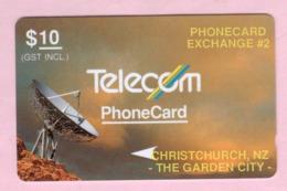 New Zealand - Private Overprint - 1992 Phonecard Exchange #2 $10 - VFU - NZ-PO-06 - New Zealand