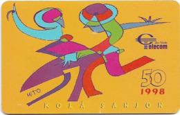 Cabo Verde - Cabo Verde Telecom - Kolá Sanjon, 50U, 1998, Used - Cabo Verde