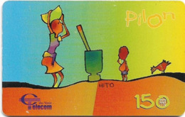Cabo Verde - Cabo Verde Telecom - Pilon, 150U, 1998, Used - Kaapverdische Eilanden