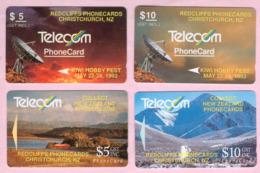 New Zealand - Private Overprint - 1992 Redcliffs Phonecards Set (4) - VFU - NZ-PO-02 - New Zealand