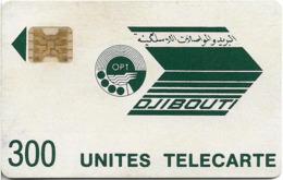 Djibouti - OPT - Dark Green Logo - 300Units, SC4-G AFNOR, 1989, Cn.8716, Used - Dschibuti