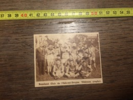 1932 1933 M EQUIPE DE RUGBY BOXELAND CLUB L ISLE SUR SORGUE VETERANS - Old Paper