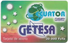 Equatorial Guinea - GETESA - Tarjeta De Abono (Green), GSM Refill, 20.000FCFA, Used - Equatoriaal Guinea