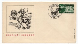 1969 YUGOSLAVIA, SPECIAL COVER, APOLLO 11, NEIL ARMSTRONG, MICHAEL COLLINS AND EDWIN ALDRIN, SPECIAL CANCELLATION - 1945-1992 Socialistische Federale Republiek Joegoslavië
