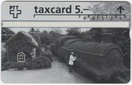 SWITZERLAND C-869 Hologram Private - Landscape, Garden, Locomotive - 303L - MINT - Suiza