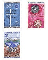 Ref. 72883 * MNH * - GABON. 1967. GAMES OF THE XIX OLYMPIAD. MEXICO 1968. X WINTER OLYMPIC GAMES. GRENOBLE 1968 . 19 JUE - Summer 1968: Mexico City