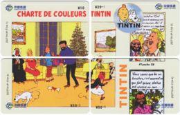 CHINA D-856 Prepaid ChinaTietong - Comics, Tintin (puzzle) - 4 Pieces - Used - China