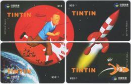 CHINA D-860 Prepaid ChinaTietong - Comics, Tintin (puzzle) - 4 Pieces - Used - China