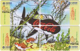 CHINA D-904 Prepaid ChinaUnicom - Comics, Tintin (puzzle) - 4 Pieces - Used - China