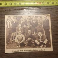 1932 1933 M EQUIPE DE FOOTBALL CLUB DE CHATEAU SALINS 1 - Old Paper