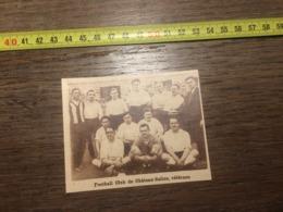 1932 1933 M EQUIPE DE FOOTBALL CLUB DE CHATEAU SALINS VETERANS - Vieux Papiers
