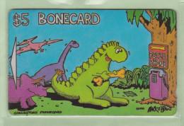 New Zealand - Private Overprint - 1993 The Bonecard - $5 Dinosaurs - VFU - NZ-LO-7 - New Zealand