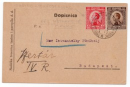 1925 YUGOSLAVIA, CROATIA, SUSINE - DJURDJENOVAC, STATIONERY CARD WITHOUT PRE PRINTED STAMP, NASICE, FACTORY - Briefe U. Dokumente