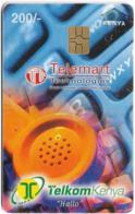 Kenya - KPTC - Orange Handset, 31.12.2000, Gem5 Red, 200Sh, Used - Kenia