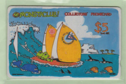 """New Zealand - Private Overprint - 1993 Whitbread $5 """"The Wave"""" - VFU - NZ-LO-8 - New Zealand"""