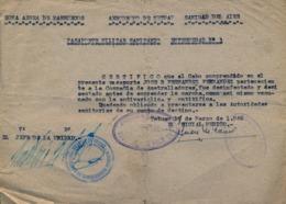 ZONA AÉREA DE MARRUECOS , AERÓDROMO DE TETUAN , SANIDAD DEL AIRE , PASAPORTE MILITAR SANITARIO , MILITARIA - Documentos Históricos