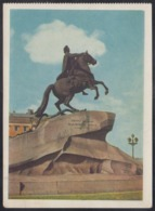 189 RUSSIA 1956 ENTIER POSTCARD SH 09426 (K4) Mint LENINGRAD PETERSBURG PETER-1 EMPEROR MONUMENT HORSE CHEVAL LAMP - 1950-59